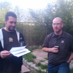 Oakshire brewer Matt Van Wyk (left) and owner Jeff Althouse