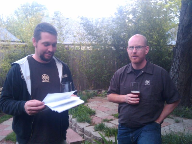 Oakshire brewer Matt Van Wyk (left) and owner Jeff Althouse