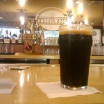 Pre-flight honest pint of Laurelwood Space Stout at Laurelwood's PDX pub