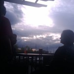 Sunset brews at Idaho Brewing in Idaho Falls, ID