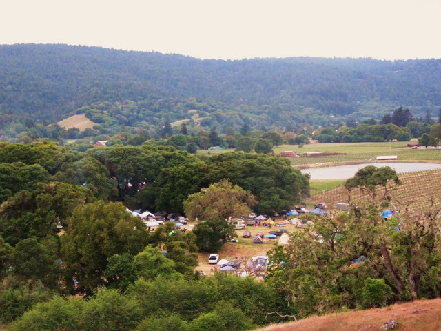 View overlooking brewers campsite at Anderson Valley Brewing