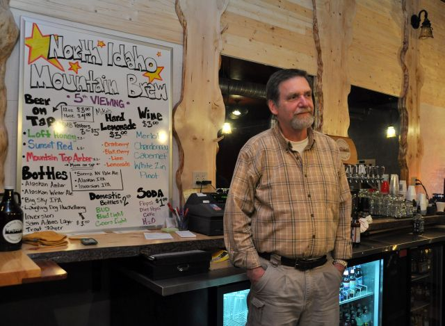 North Idaho Mountain Brew founder/brewer Mark Burmeister chats with clientele in his new establishment in Wallace, Idaho.