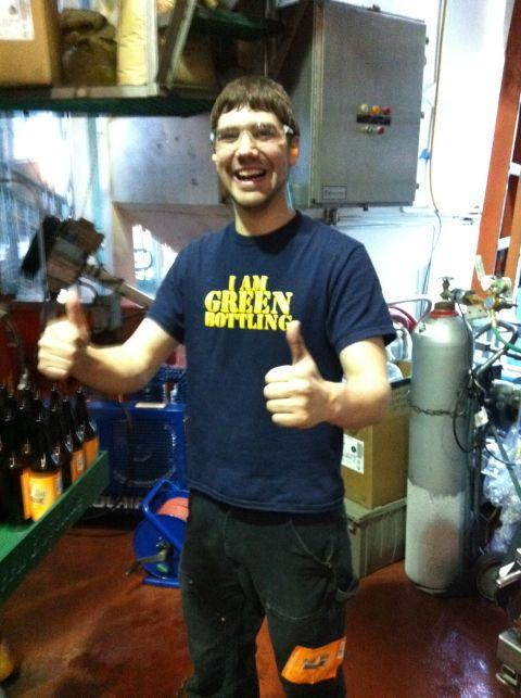 Green Bottling employee of the month Paul Bastian