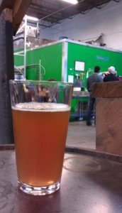 A fresh pint of Fremont Brewing ale in the Urban Beer Garden