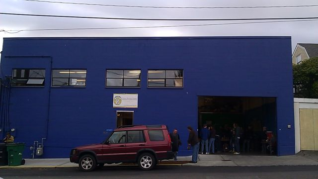 Crowds gather at Fremont Brewing in Seattle