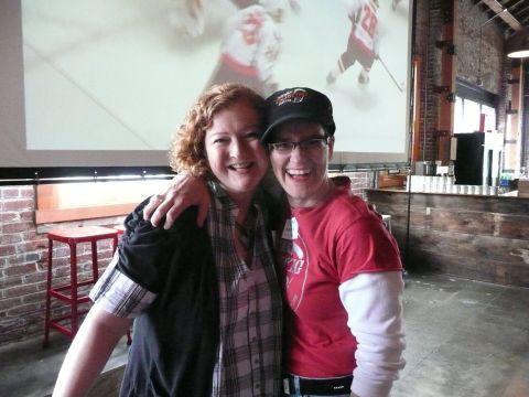 Lisa Morrison (left) and Women Enjoying Beer's Ginger Johnson