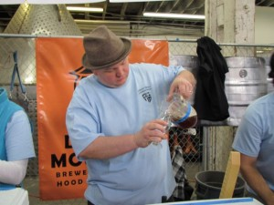 Harvester Brewing's James Neumeister pours at PCTBB