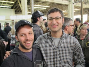 Breakside brewer Ben Edmunds (left) and Upright founder Alex Ganum
