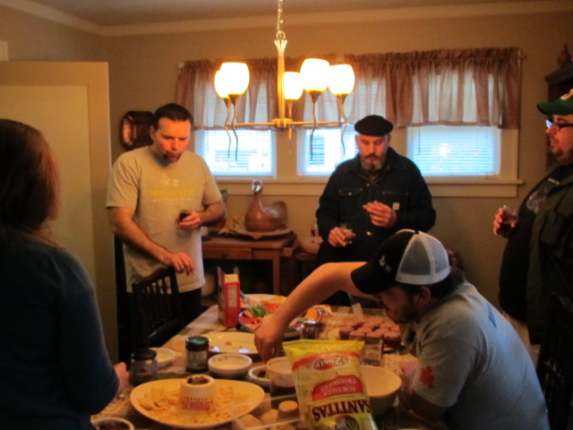 Texas beer tasting food table