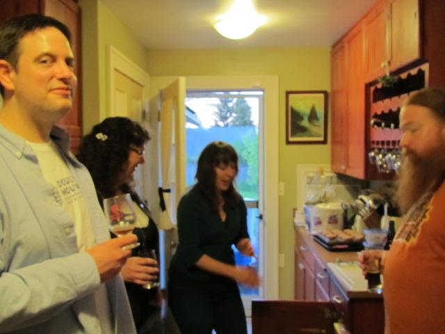 Texas Beer Tasting L to R: Paul Kasten, Nicole Kasten, Margaret Lut, Charles Culp