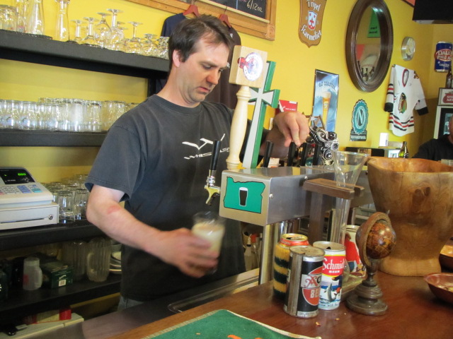BeerMonger Craig Gulla pours a pint of Caldera Pale Ale