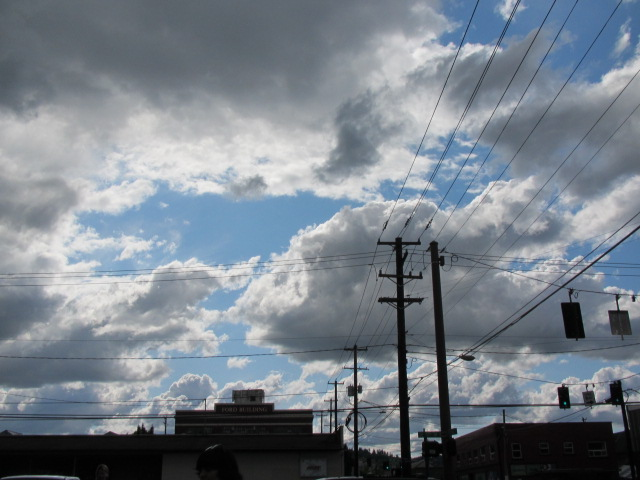 Cloudy sky with some blue showing through (May 30, 2011)