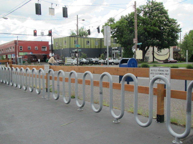 Bike racks at APEX