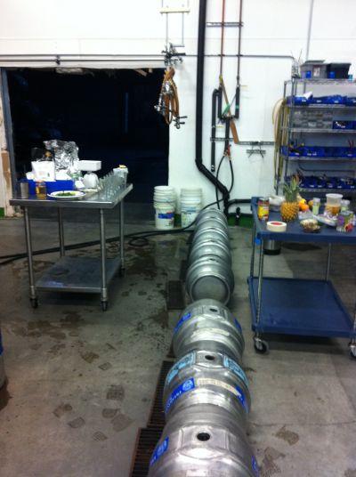 Fremont Brewing's casks being prepared