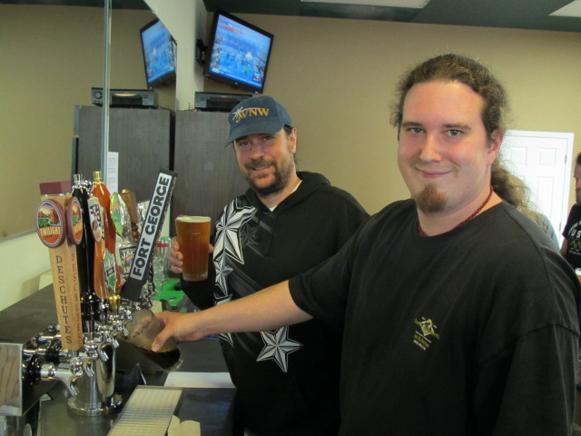 Portland U Brew's Jason Webb (left) and Aaron Gillham