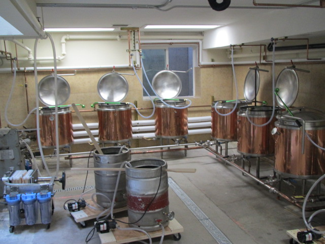 Downstairs brewing facility at Portland U-Brew