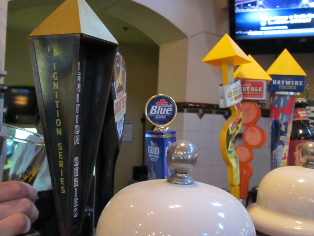 Tap handles at MacTarnahan's Taproom in Portland, Oregon (yes, that is Labatt Blue on tap)