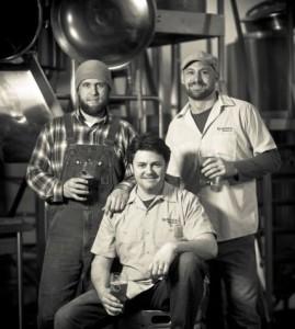 Burnside Brewing crew L to R: Jason McAdam, Adam Cassie, Jay Gilbert (photo courtesy of Maletis Beverage)