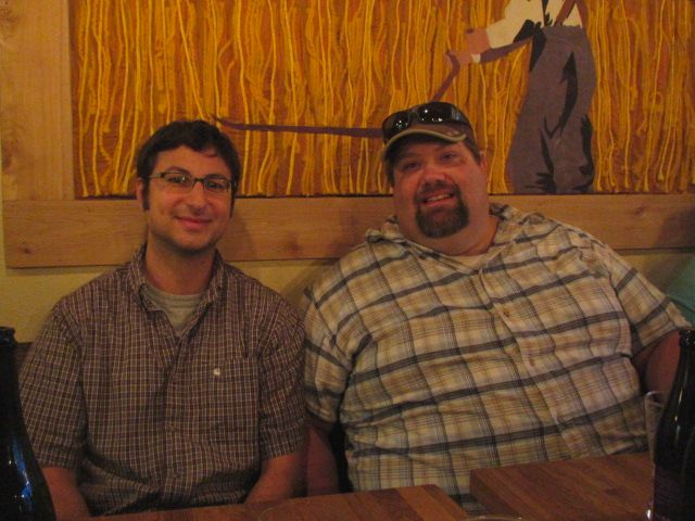 Brewmasters Alex Ganum of Upright (left) and Shawn Kelso of 10 Barrel Brewing