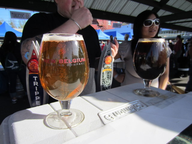 New Belgium's appetizing display of their great beers