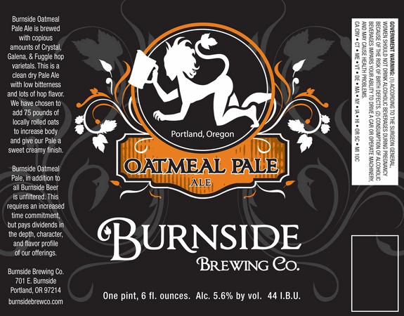 Burnside Brewing Co. Oatmeal Pale Ale