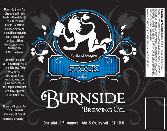 Burnside Brewing Co. Stock Ale