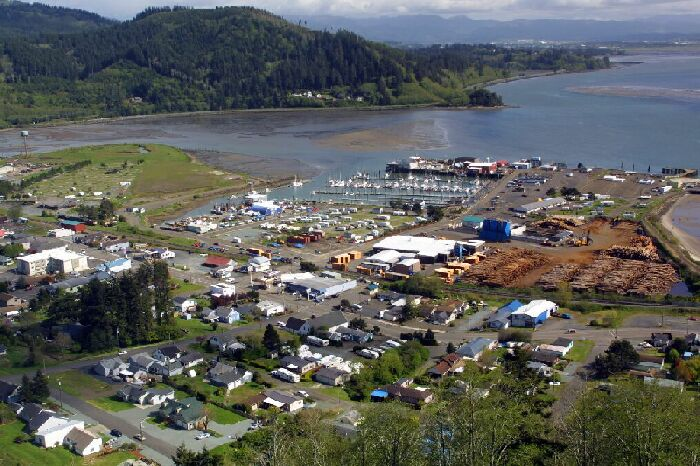 Tillamook Bay (photo from www.bayhousevacationrentals.com)