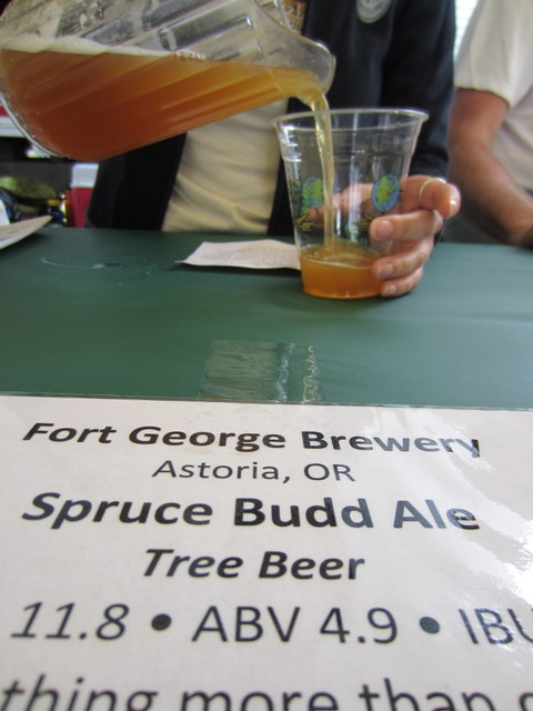Fort George's Tree Beer being poured