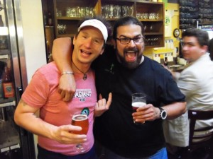 Jamie Floyd of Ninkasi (left) and Jaime Rodriguez of Hopworks