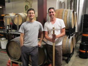 Upright brewer Alex Ganum (left) and Beetje brewer Michael Wright