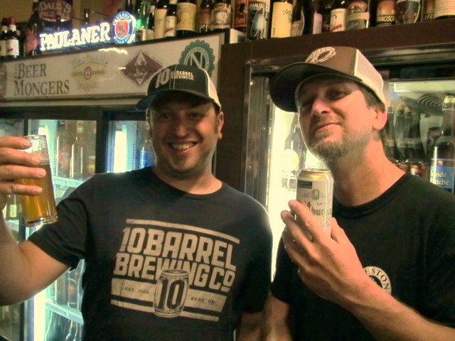10 Barrel's Jimm Seifrit (left) and Boneyard Beer's Tony Lawrence at Bend Beer Night at The BeerMongers