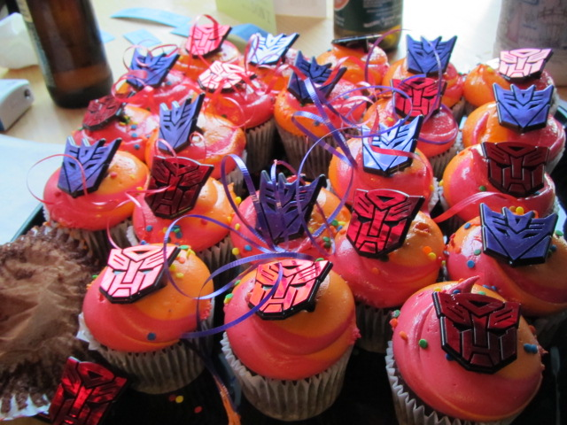 Transformers cupcakes for Dan's birthday
