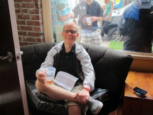 Beer aficionado Seth Kelton at Saraveza's 2nd Annual IIPA Fest
