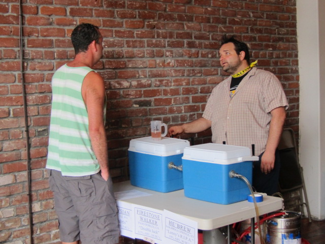 Saraveza's Mickey Pollizatto pours brews at Saraveza's 2nd Annual IIPA Fest