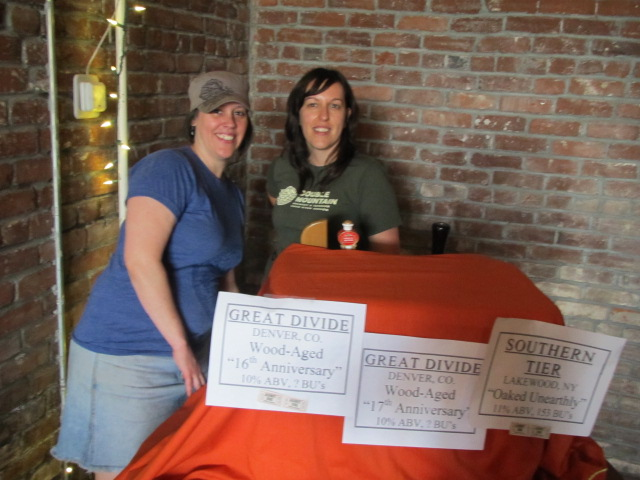Lucky Lab's Amy Welch (left) and Margaret Lut at Saraveza's 2nd Annual IIPA Fest