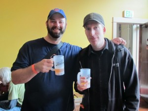 The Seattle constituency represents at Saraveza's 2nd Annual IIPA Fest: Geoff Kaiser (left) and Chris Devlin