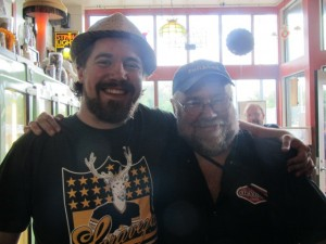 Saraveza's Jonathan Carmean (left) and beer guru John Foyston at Saraveza's 2nd Annual IIPA Fest