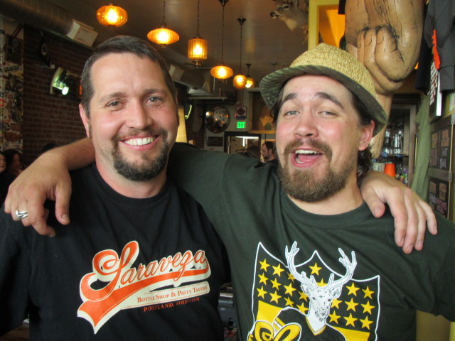 Oakshire Brewmaster Matt Van Wyk and Saraveza GM Jonathan Carmean at Saraveza's 2nd Annual IIPA Fest