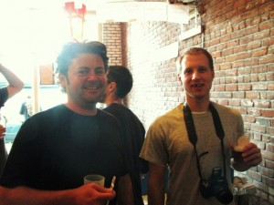 Burnside Brewing's Adam Cassie (left) and Ryan Pederson at Saraveza's2nd IIPA Fest