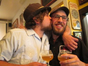 Saraveza's Jonathan Carmean and Angelo celebrate hops at Saraveza's IIPA Fest