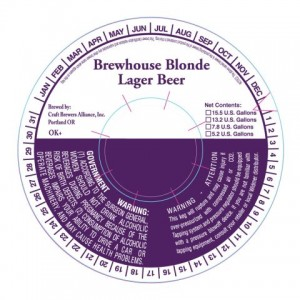 Craft Brewers Allliance Brewhouse Blonde Lager Beer