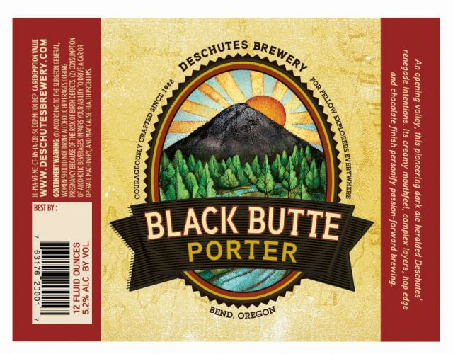 Deschutes Black Butte Porter Label