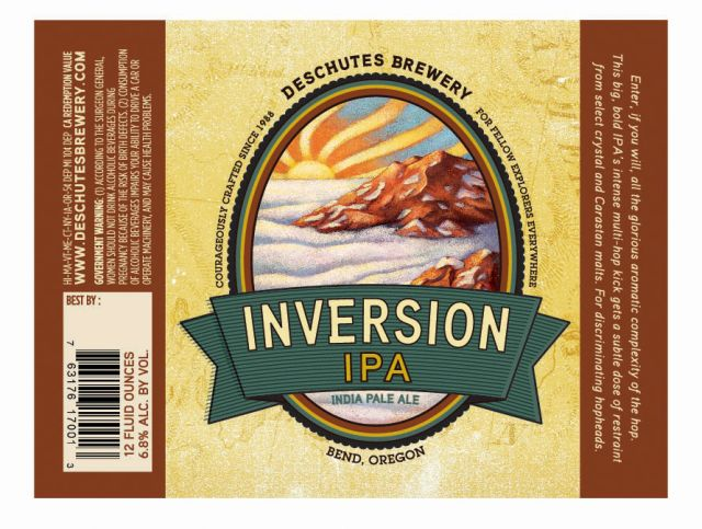 Deschutes Inversion IPA Label