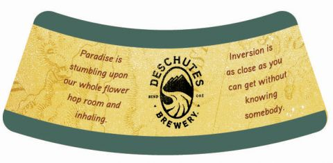 Deschutes Inversion IPA Neck Label
