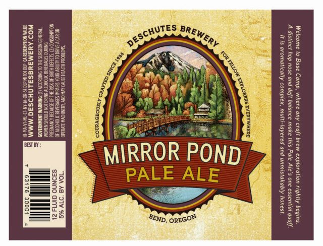 Deschutes Mirror Pond Label
