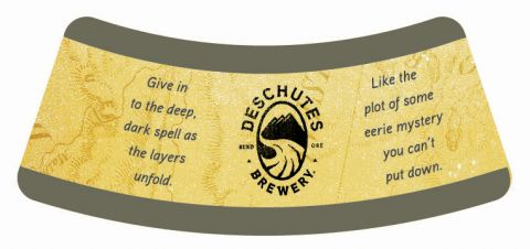 Deschutes Obsidian Stout Neck Label