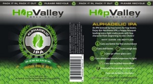 Hop Valley Alphadelic IPA Can Label