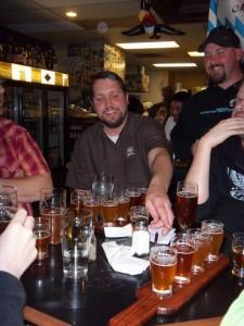 Oakshire Brewmaster Matt Van Wyk samples beers