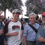 Beer guys (L to R): Lompoc Brewer Bryan Keilty, Fort George Brewer Jack Harris, Beer Legends Fred Bowman and John Foyston