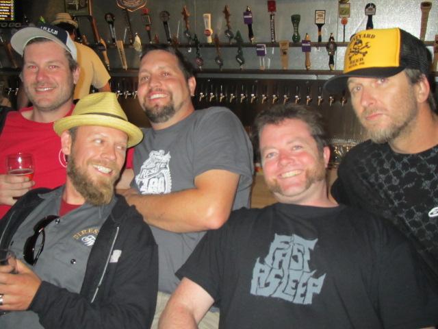 L to R: Hollister Brewer Eric Rose, Firestone Walker Brewer Matt Brynildson, Oakshire Brewer Matt Van Wyk, APEX Beer Guy Jesse McCann, and Boneyard Brewer Tony Lawrence